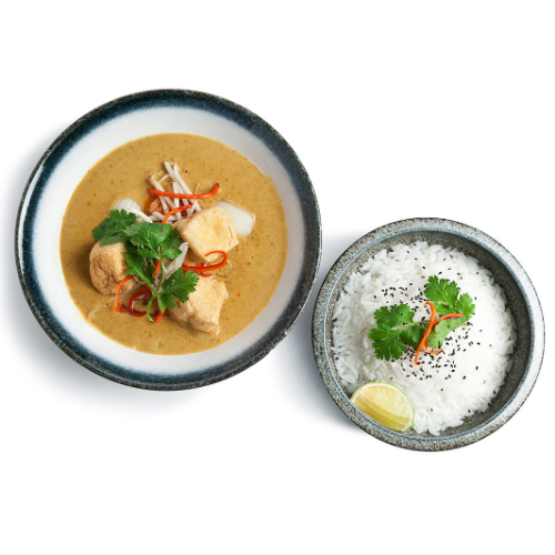Malaysian street food curry Chicken