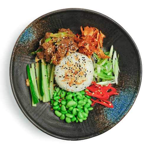 Lemon grass beef donburi