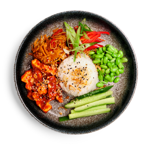 Fiery Korean bulgogi chicken donburi