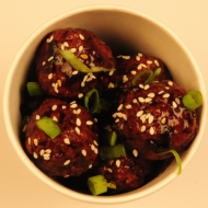 Teriyaki lemongrass chicken meatballs