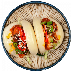 BAO BUN  -spicy korean prawns
